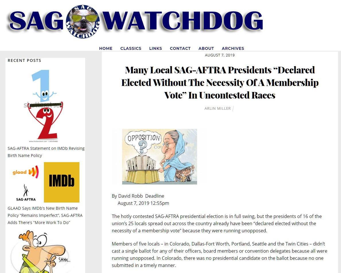 SAG Watchdog